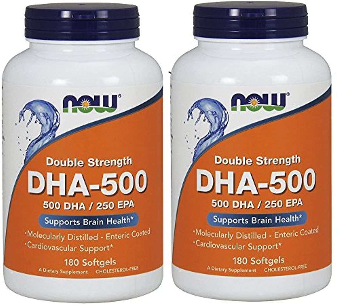 メナジェリー森高度な[海外直送品] ナウフーズ  (2個セット)  DHA 180 Softgels 500 Mg