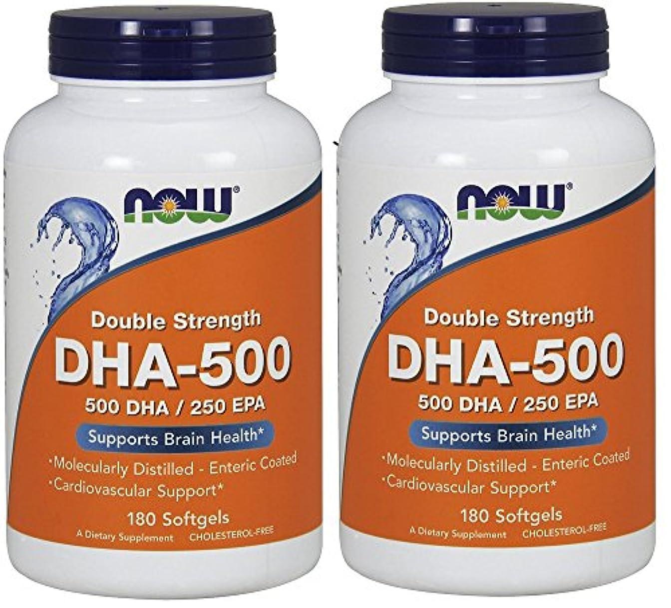 実際のエキスアトミック[海外直送品] ナウフーズ  (2個セット)  DHA 180 Softgels 500 Mg