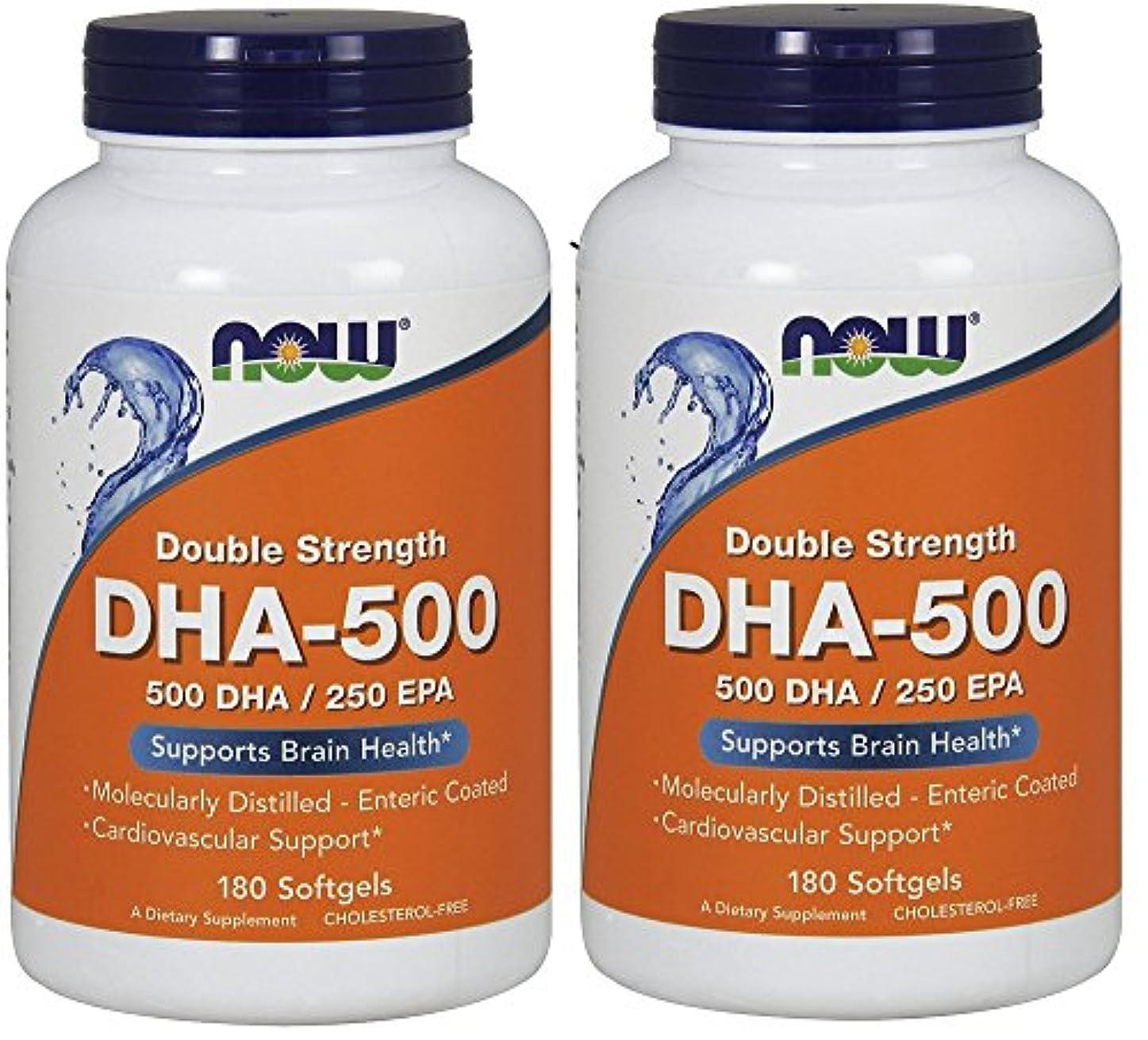 機密ビルダーエレガント[海外直送品] ナウフーズ  (2個セット)  DHA 180 Softgels 500 Mg