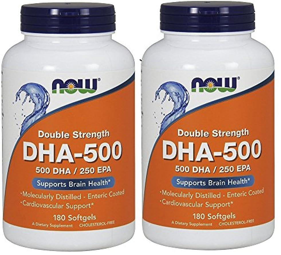 過ちおばさん仲間、同僚[海外直送品] ナウフーズ  (2個セット)  DHA 180 Softgels 500 Mg