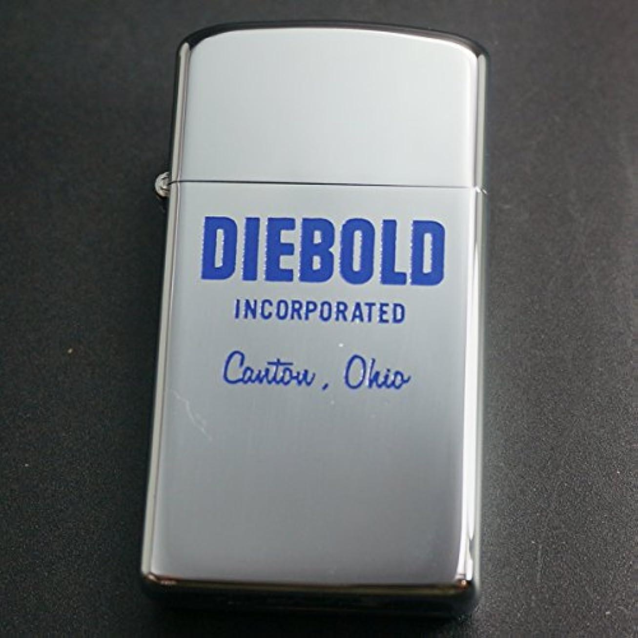 電極時間厳守手配するzippo 企業柄 DIEBOLD スリム #1610 1972年製造