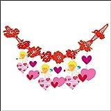 バレンタイン装飾 エンゼルハートガーランド L180cm / ディスプレイ 装飾品 飾り付け  21931