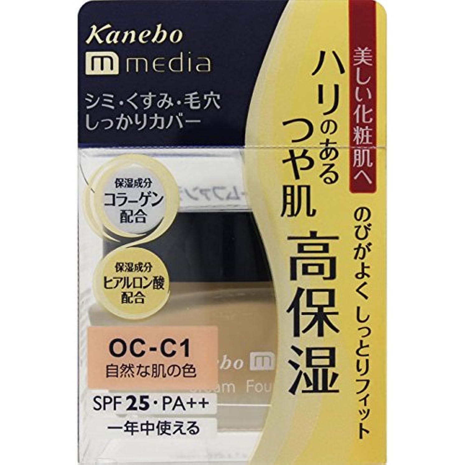 シーフード教育学凍ったカネボウ media(メディア) クリームファンデーション OC-C1(自然な肌の色)