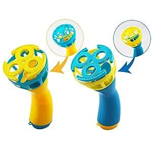 電動シャボン玉 携帯せんぷうき 2WAY 毎分約2000玉発射 bubble fan