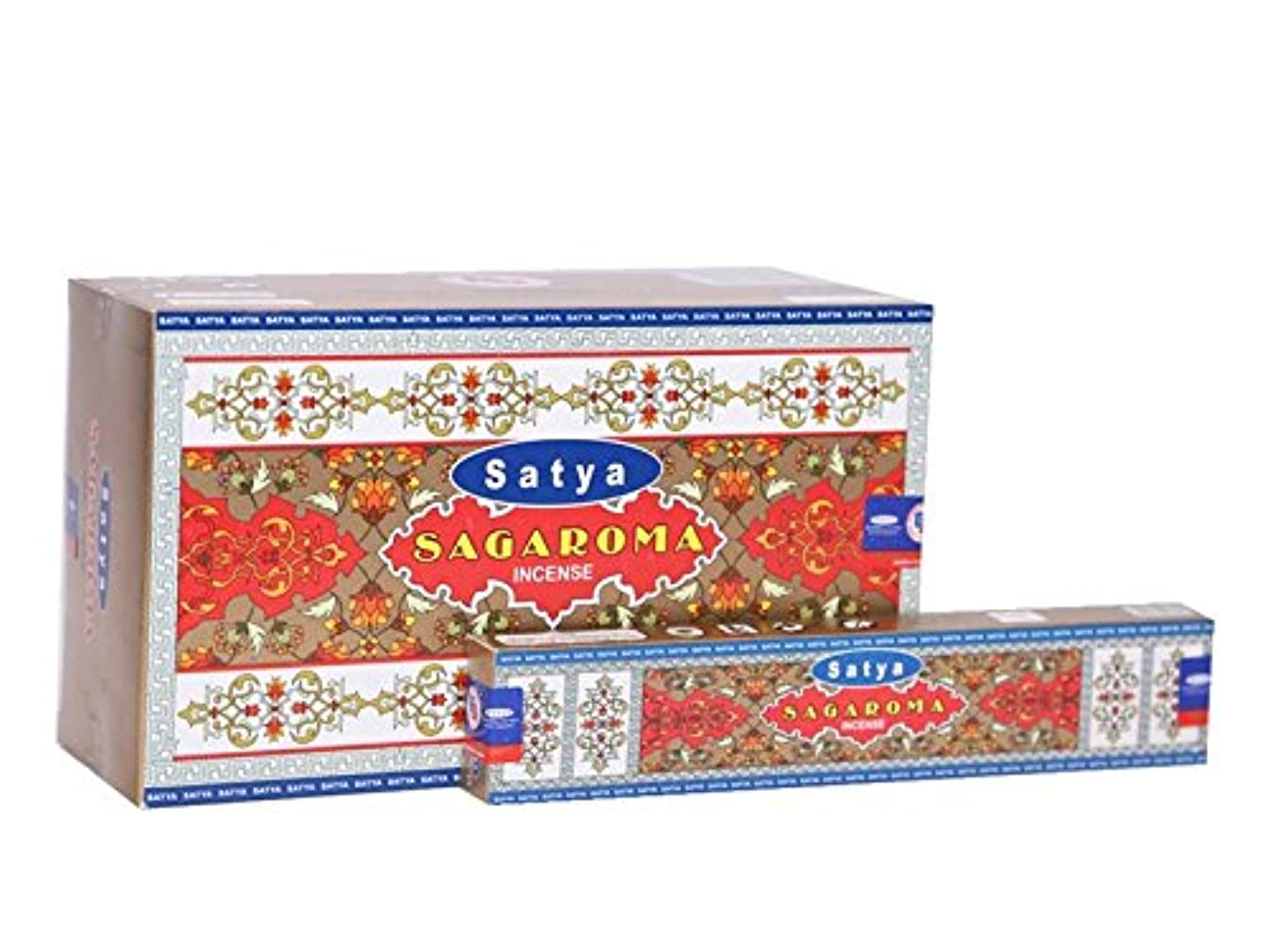 トロリーバス警戒床を掃除するSatya sagaroma Incense Sticksボックス15グラムパック、12カウントin aボックス