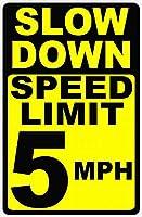 Speed Limit 5 MPH ティンサイン ポスター ン サイン プレート ブリキ看板 ホーム バーために