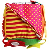 Flameer Montessori Learn to Dress Baby 6 Puzzle Cube Toy Zip Snap Button Buckle Lace