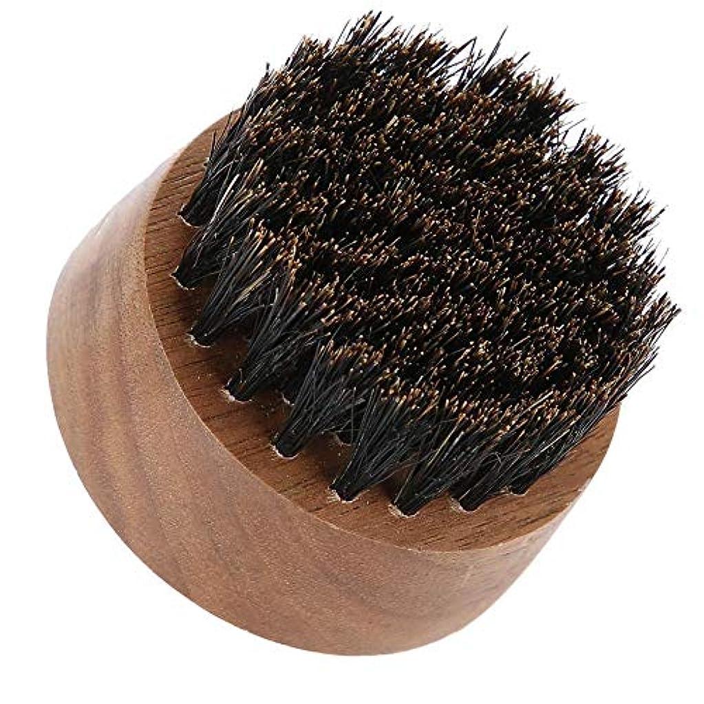 香りプラットフォームネズミ男性ひげブラシ-最高のひげとスキンケア(黒クルミ)