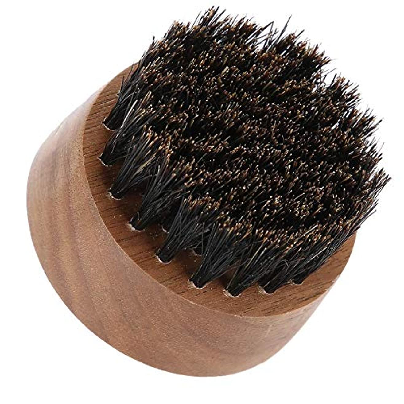 音声仮定、想定。推測理論的男性ひげブラシ-最高のひげとスキンケア(黒クルミ)