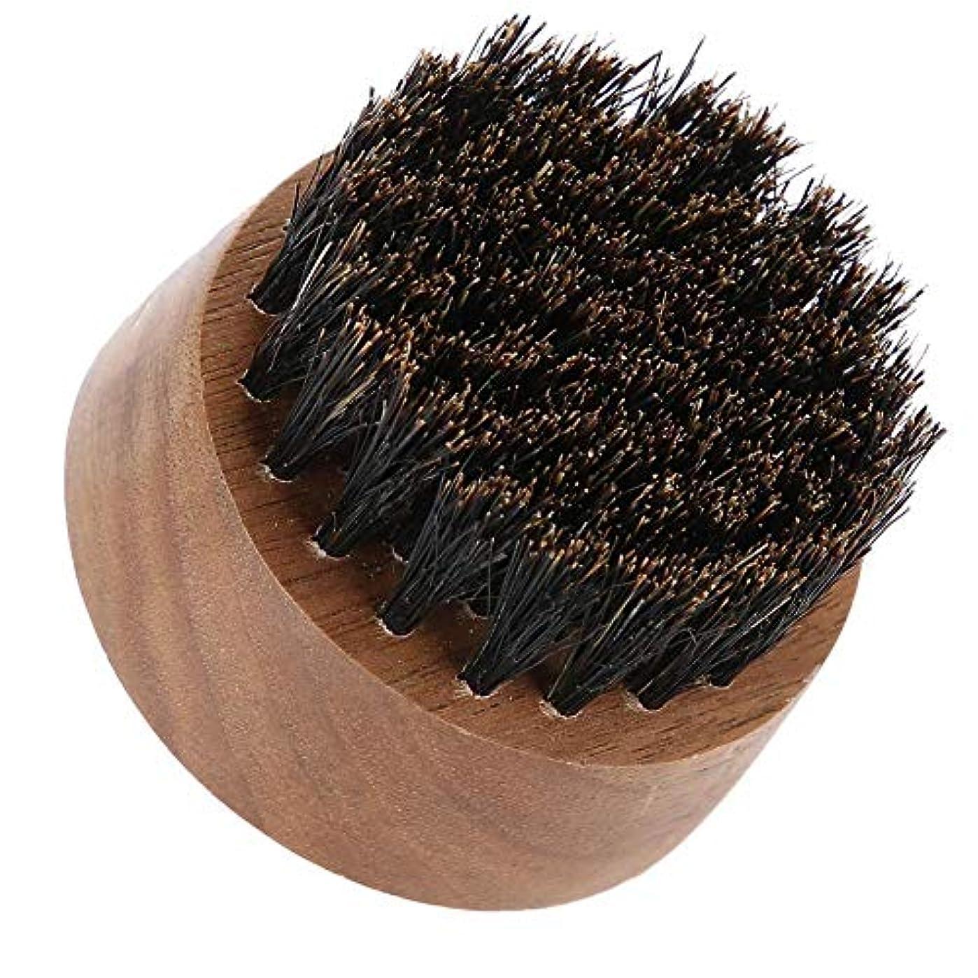 パパテーブルを設定する脅かす男性ひげブラシ-最高のひげとスキンケア(黒クルミ)