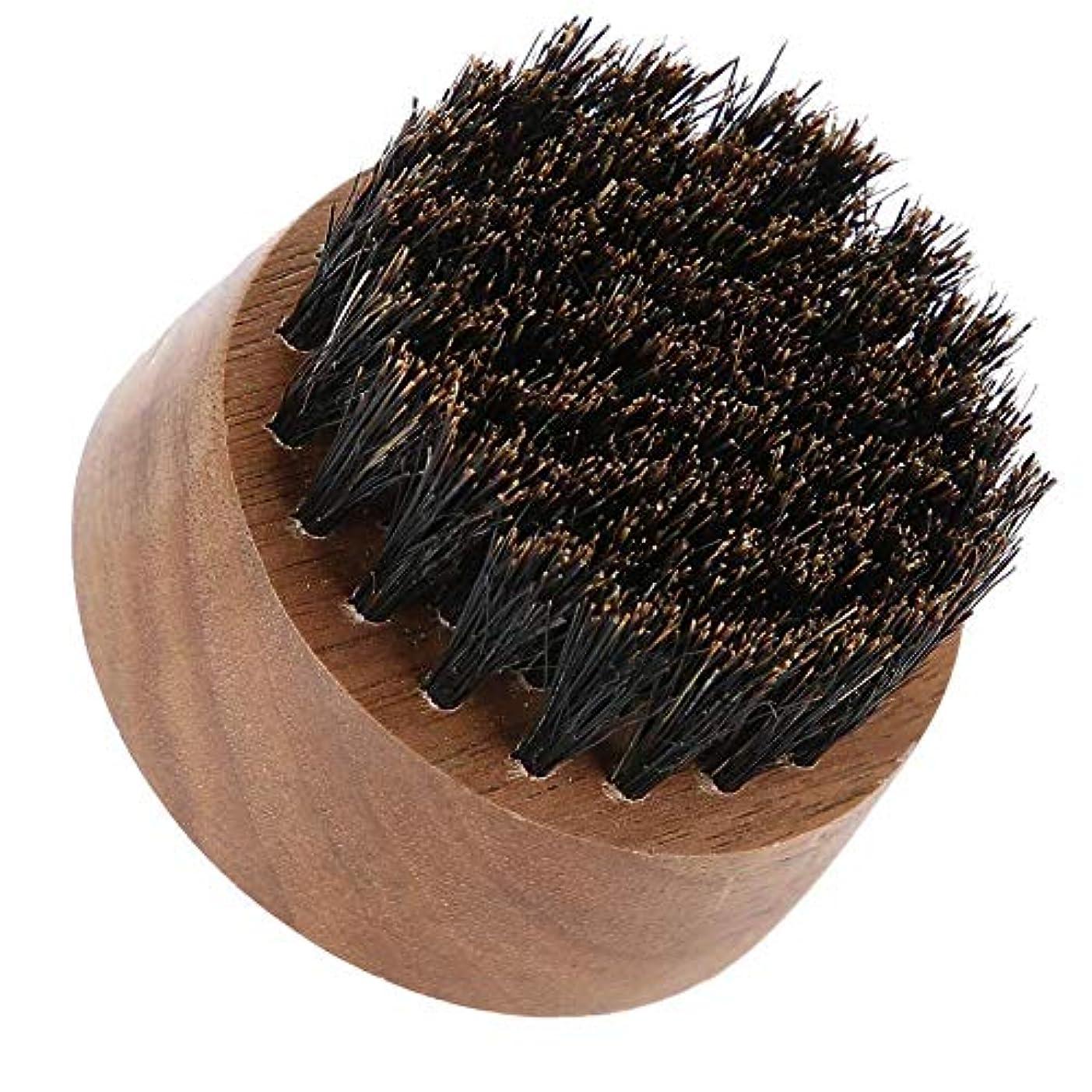 効能あるぬるいうつ男性ひげブラシ-最高のひげとスキンケア(黒クルミ)