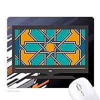 モロッコスタイルの花の抽象的なパターン ノンスリップラバーマウスパッドはコンピュータゲームのオフィス