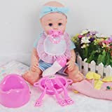 ビニールRebornベビー人形Newborn Doll Boy in Blue with Feed Pottyセット子供用おもちゃ