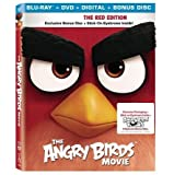 The Angry Birds Movie Exclusive Red Edition with Exclusive Packaging + Bonus Disc + Stick-on Eyebrows (Blu Ray + DVD +