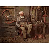 Brown Boat Builder Large Wall Art Poster Print Thick Paper 18X24 Inch ボート 壁 ポスター印刷