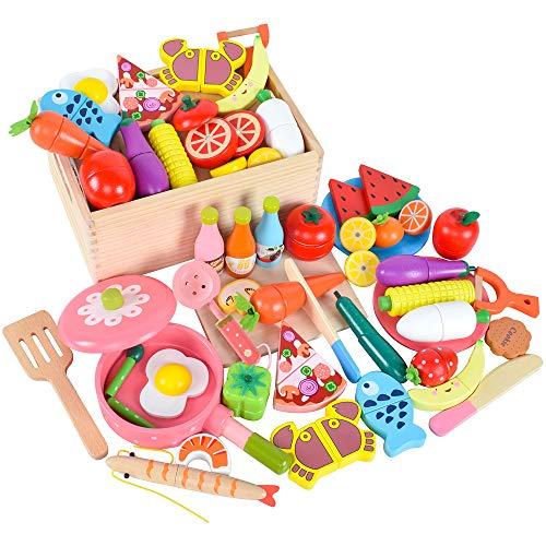木製 おままごと セット マグネット ごっこ遊び 木のおもちゃ 木のおままごと 切る遊び 人気 きれる食材 料...