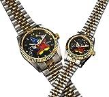 ミッキーファンタジア 70周年ダイヤ腕時計(ブラック、メンズ)