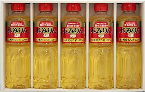 養命酒製造 「家醸本みりん」ギフト5本セット [ 長野県 500ml×5本 ] [ギフトBox入り]