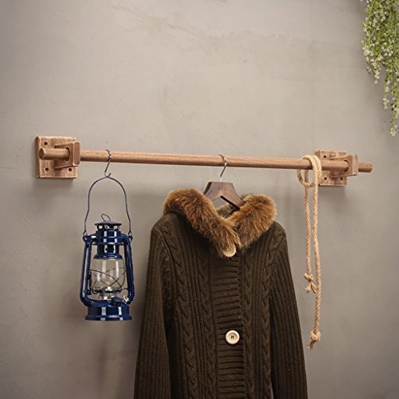 コートラック 衣料品店のディスプレイラック壁掛けのコートラック固体木製の壁掛けの服ラックの男性と女性の服シングルポールコートラック (サイズ さいず : 120cm)