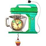 Allen Design Studios Vintage Mixer Green Mixer Kitchen Wall Clock by Allen Design Studios