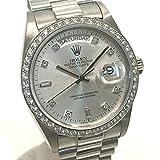(ロレックス) ROLEX 18049A デイデイト ダイヤベゼル 8Pダイヤ メンズ腕時計 腕時計 K18WG/ダイヤモンド メンズ 中古