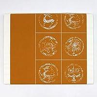 半切 赤城 28紋箋 ウコン 10枚 漢字用 加工紙