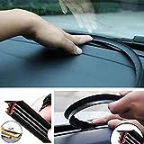 車の風騒音音静かな防止ウェザーストリップのためのカーコンソールU型フロントガラスシールストリップ (黒)