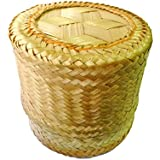 Arinjit Thai Traditional Handmade ''Kra-Tip'' Sticky Rice Serving Basket Medium Size 5''X4""