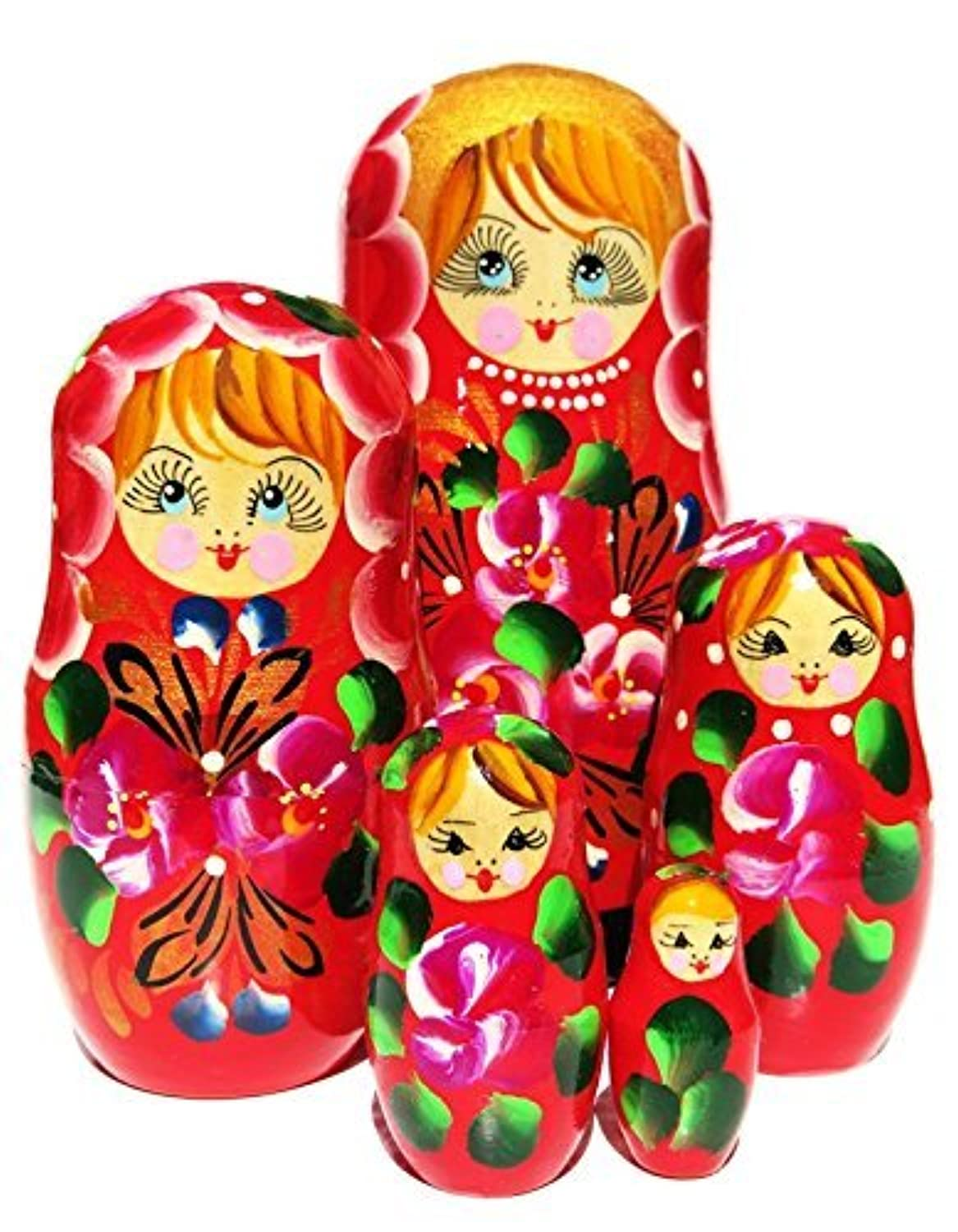 Inna 5 Piece Red Nesting Doll by GreatRussianGifts [並行輸入品]