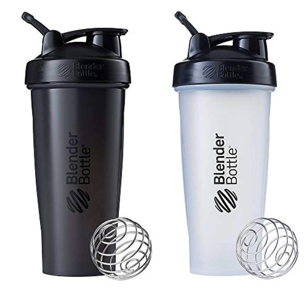 側面クライアントかけるBlender Bottle Classic Loop Top Shaker Bottle, 28-Ounce 2-Pack, All Black and Clear/Black 141[並行輸入]