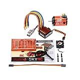 SkyRC 1600KV 21.5T 2極点 ブラシレス センサー/センサレス モーター + CS60 60A ブラシレス センサー/センサレス ESC スピードコントローラー + LED プログラムカード コンボ セット 1/10 1/12 RC ラジコン 車 バギー ツーリングカー用