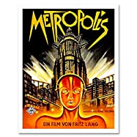 Vintage Film Movie Metropolis 1927 Sci Fi Future Art Print Framed Poster Wall Decor 12X16 Inch ビンテージ膜映画未来ポスター壁デコ