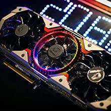Kkmoon グラフィックボード 2080Ti Colorful ビデオカード iGame GeForce RTX 2080 Ti 4K対応 1635MHz GDDR6 11G 3 * DP + HDMI + USB Type-C