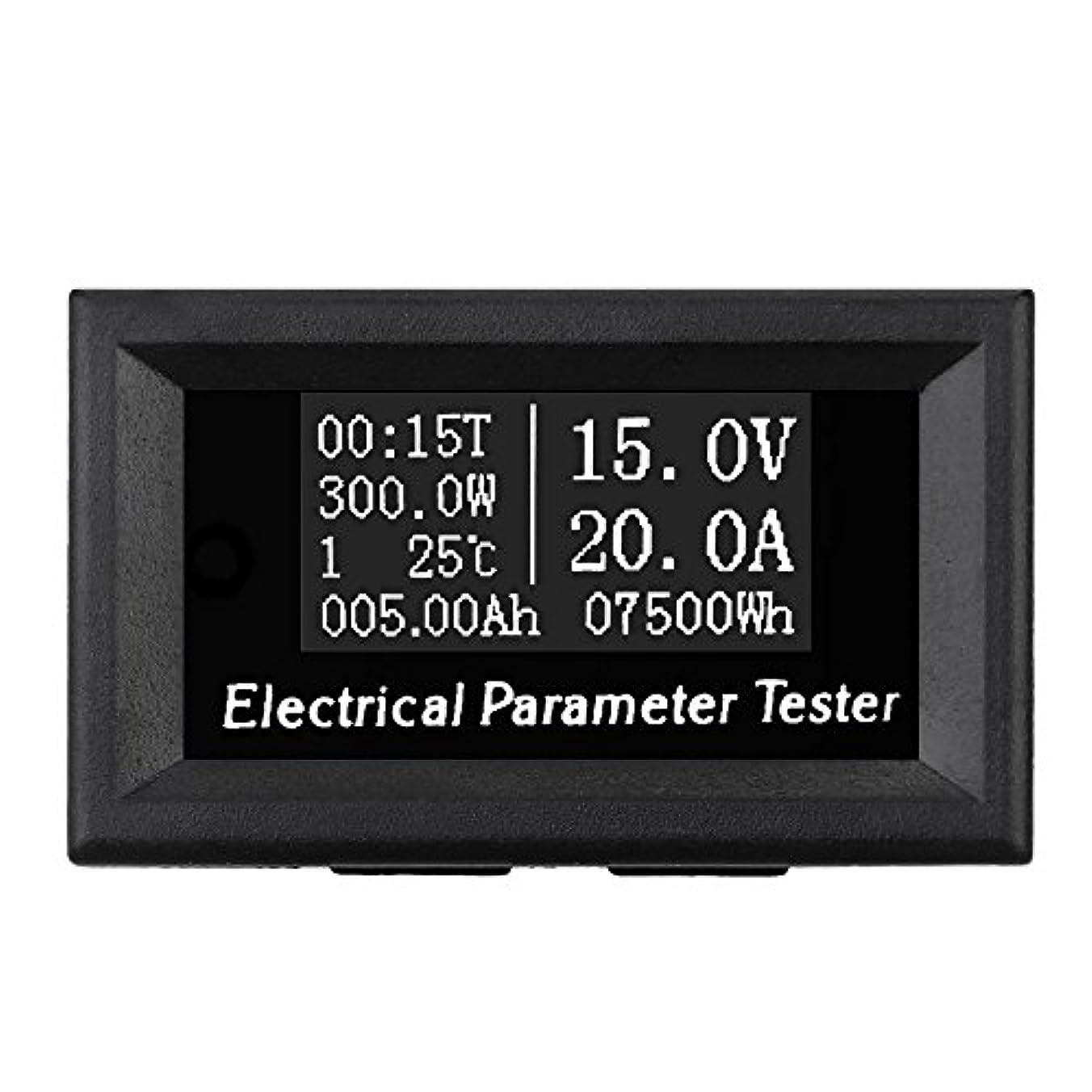 ルー少数発症Wunes - 100V 50A / 100A 7 - 1 OLED電圧電流時間パワーエネルギー容量の温度テスター+ DC 50A 75mVの電流シャントを測定します