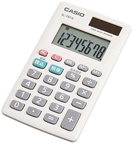 カシオ パーソナル電卓 税計算 カードタイプ 8桁 SL-79...