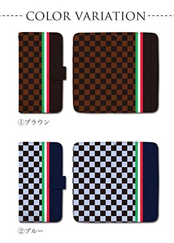 SC-06D (GALAXY S3):M 手帳型 ケース [チェック イタリア トリコロール] ギャラクシー docomo dy001-00246-06 スマホ カバー ブックレット