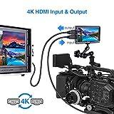 Eyoyo E5 5インチ フィールドモニター デジタル一眼レフカメラ用 IPSモニター 1920x1080 170°広角 HDMI 4K入力 118g軽量 外付けモニター 撮影用 マジックアーム付属 画像
