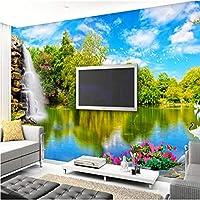 Mingld 壁のための3D壁壁画壁紙中国風景自然風景滝カスタム3D写真壁紙寝具部屋の壁の装飾-150X120Cm