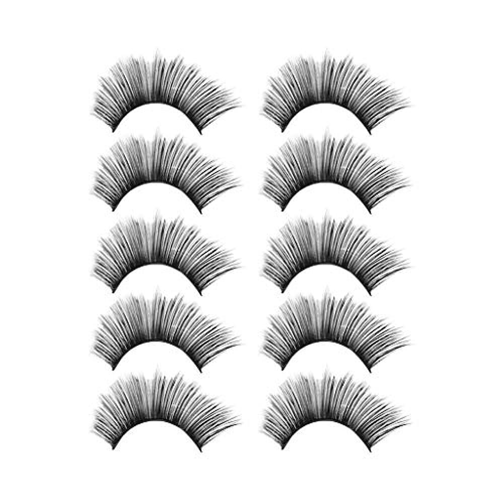 ジャンピングジャック頬回答贅沢な構造5Pair 3Dのまつげふわふわのストリップまつげの長く自然な党