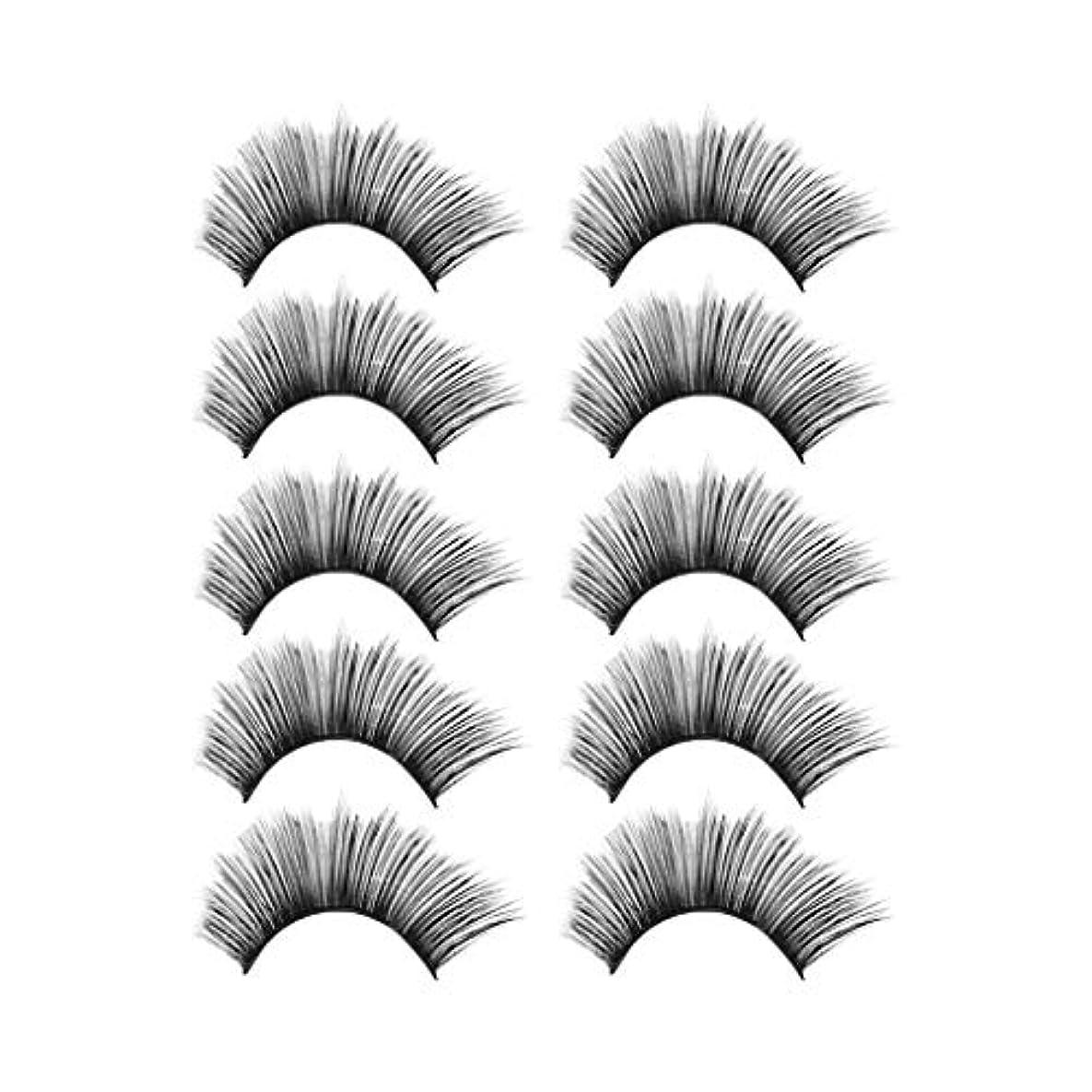 記録喉頭リード贅沢な構造5Pair 3Dのまつげふわふわのストリップまつげの長く自然な党