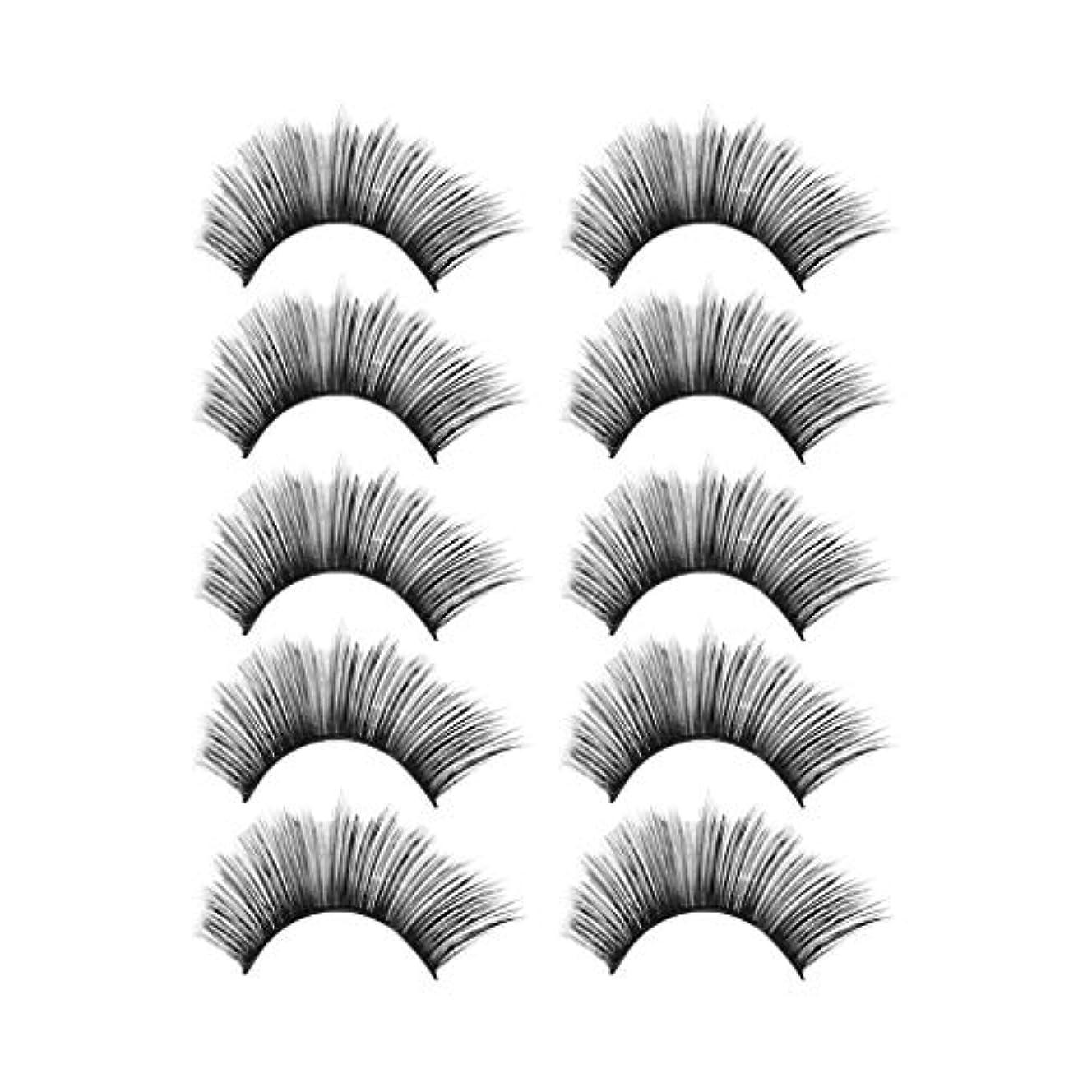 香り称賛打倒贅沢な構造5Pair 3Dのまつげふわふわのストリップまつげの長く自然な党
