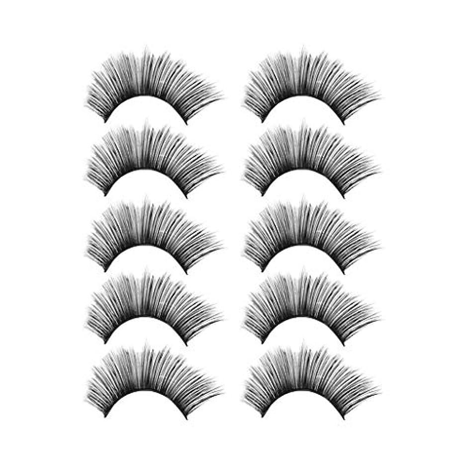 薬局チャーム疾患贅沢な構造5Pair 3Dのまつげふわふわのストリップまつげの長く自然な党