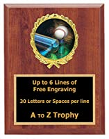 TボールPlaque Awards 7x 9木製スポーツトロフィーティーボールTrophies Free Engraving