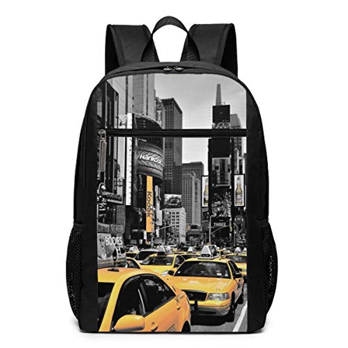 断言する剣報復するMy Life リュックサック ニューヨーク 黄色い タクシー 町並み メンズ バックパック リ ュック デイパック 大 おしゃれ 出張/旅行/通勤/アウトドアに適用 大容量 多機能 人気 学生 高校生 (17インチ)