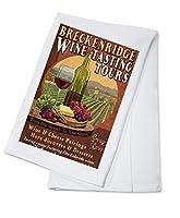 Breckenridge、コロラド–Wine Tasting Vintage Sign Cotton Towel LANT-43909-TL