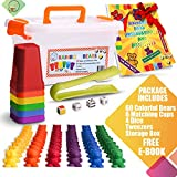 Counting Bears with Matching/Sorting Cups, 4 Dice and an Activity e-Book .for Toddlers and Early Childhood Education. 70 pc Game Set.