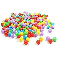 Lovinland 100個 オーシャンボール 2.76インチ 子供用 スイムピットトイ カラフル ソフトプラスチックボール 赤ちゃんのおもちゃ