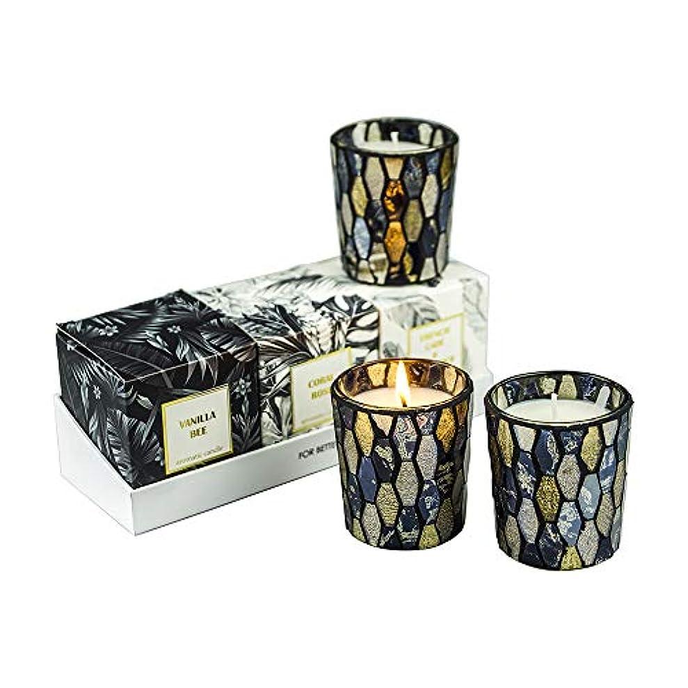 感謝している矩形セッティング秋の装飾の香りのキャンドル、香りのキャンドルセット天然大豆ワックスポータブル旅行錫キャンドル女性ギフトストレス解消とアロマセラピー