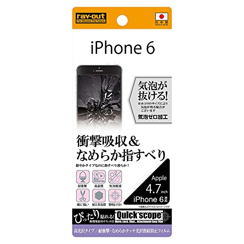 iPhone6/6s 耐衝撃・なめらかタッチ光沢フィルム RT-P7F/DB
