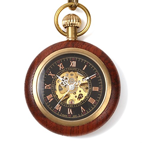 [해외]쿠로노시아 회중 시계 태엽 앤티크 기계식 나무/Chronosia pocket watch hand winding Antique mechanical wooden